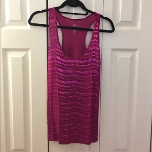 Pink Sequin Racerback Tank mossimo
